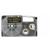 Utángyártott szalag Casio XR-9BKG 9mm x 8m arany nyomtatás / fekete alapon