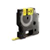 Utángyártott szalag Dymo 18052, S0718270 6mm x 1,5m fekete nyomtatás / sárga alapon