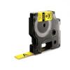 Utángyártott szalag Dymo 18056, S0718310, 12mm x 1,5m fekete nyomtatás / sárga alapon