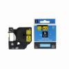 Utángyártott szalag Dymo 40918, S0720730, 9mm x 7m, fekete nyomtatás / sárga alapon
