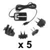 Utazó Mobiltelefon Töltő USB 5 db-os csomag
