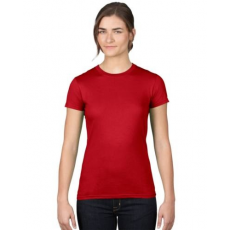 UTT AN379 WOMEN'S FASHION BASIC FITTED TEE, Red