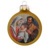 Üvegkarácsonyfadíszek Szentcsalád, matt arany, 8 cm-es üveggömb