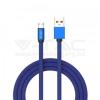 V-tac 1M Micro USB kábel kék rubin széria - 8496