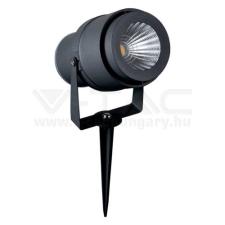 V-tac LED 12W leszúrható kerti lámpa - szürke - ZÖLD - 7552 kültéri világítás