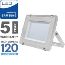 V-tac PRO LED reflektor fehér (300W/100°) hideg fehér, 120lm/W, Samsung kültéri világítás