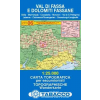 Val di Fassa e Dolomiti Fassane térkép - 06 Tabacco