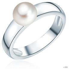 ValeroPearls ValeroGyöngys gyűrű Sterling ezüst Süßwasser-ZuchtGyöngy Fehér gyűrű 52