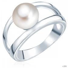 ValeroPearls ValeroGyöngys gyűrű Sterling ezüst Süßwasser-ZuchtGyöngy Fehérhochglanzpoliert gyűrű 50 gyűrű