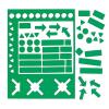Válogatott mágneses szimbólumok, 10 mm, zöld