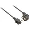 Valueline tápkábel Schuko hajlított apa - IEC-320-C13 10.0 m fekete