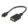 Valueline USB2.0 A - Micro USB B OTG adapter kábel 20cm