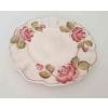 Vanilia Kerámia 30-26 Domború mintás desszerttányér,virágos bordó, V.K.30-26