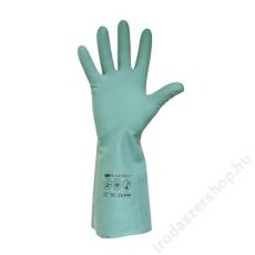 Védőkesztyű, akrilonitril, 10-es méret, zöld (ME671)