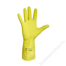 Védőkesztyű, latex, 7-es méret, sárga (ME681)