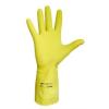 Védőkesztyű, latex, 9-es méret, sárga