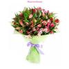 Vegyes színű alsztroméria virágok szorosan kötve
