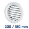 VENTS fehér szellőzőrács, bútorrács rovarhálós (200/150 mm)