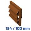 VENTS gravitációs zsalu, barna (154/100 mm) csőcsatlakozóval