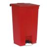 VEPA BINS Pedálos szemetes, 87 l, műanyag, piros, RUBBERMAID