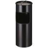 VEPA BINS Tűzálló szemetes, fém, kiemelhető hamutartóval, VEPA BINS, fekete