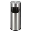 VEPA BINS Tűzálló szemetes, rozsdamentes acél, hamutartóval kombinált, , ezüst