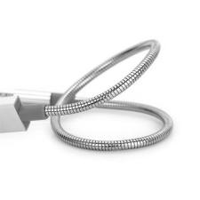 Verbatim 48865 USB 2.0 (M) - microUSB 2.0 (M) 30cm ezüst USB töltő- és szinkronkábel mobiltelefon kellék