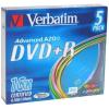 Verbatim DVD + R 16x, SLIM SZÍNEK 5 db egy dobozban