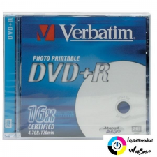 Verbatim DVD-R 4.7GB 16x nyomtatható DVD lemez írható és újraírható média