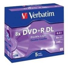 Verbatim DVD + R 8x kétrétegű 5 db egy dobozban írható és újraírható média