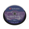 Verbatim DVD+R lemez, kétrétegű, 8,5GB, 8x, hengeren, VERBATIM Double Layer (DVDV+8DLB10)