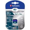 "Verbatim Memóriakártya, SDHC, 32GB, Class 10 UHS-I, 90/45MB/sec, VERBATIM ""PRO"""