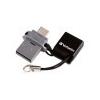Verbatim Pendrive, 16GB, USB 2.0+micro USB adapter, táblagéphez, VERBATIM DUAL
