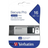 "Verbatim Pendrive, 16gb, usb 3.0, 100/20mb/sec, pc & mac, verbatim ""secure data pro"", szürke"