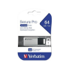 "Verbatim Pendrive, 64GB, USB 3.0, 100/35MB/sec, PC & MAC, GDPR, VERBATIM ""SECURE DATA PRO"", szürke"