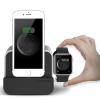 VERUS VRS Design (VERUS) New i-Depot Plus Apple Watch töltő és asztali dokkoló, hálózati töltő iPhone 5/5S/SE, 6, iPad, ezüst