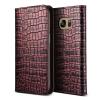 VERUS VRS Design (VERUS) Samsung Galaxy S7 Genuine Croco Diary oldalra nyíló bőr tok, rózsaszín