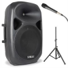 Vexus SPS152 PA hangfal készlet, max. 600 W, bluetooth, USB, SD, MP3, AUX, állvány, mikrofon