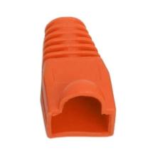 Vez Törésgátló RJ45 csatlakozóhoz (05230NA-100), narancssárga, 100db/csomag kábel és adapter