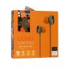 Vezetékes sztereó fülhallgató, 3.5 mm, cipőfűző minta, Como, M8, narancs