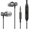 Vezetékes sztereó fülhallgató, 3.5 mm, felvevőgombos, mágneses, fekete