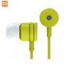 Vezetékes sztereó fülhallgató, 3.5 mm jack, felvevő gomb, Xiaomi, zöld, gyári, ZBW4094CN_G