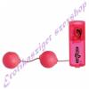 Vibrációs, zselés gésagolyó - pink szíben