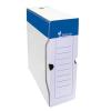 VICTORIA Archiváló doboz, A4, 100 mm, karton, , kék-fehér