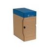 VICTORIA Archiváló doboz, A4, 150 mm, karton, VICTORIA, kék-fehér