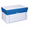 VICTORIA Archiváló konténer, 320x460x270 mm, karton, , kék-fehér