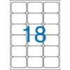 VICTORIA Etikett, univerzális, 63,5x46,6 mm, kerekített sarkú, VICTORIA, 1800 etikett/csomag [100 lap]