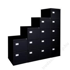VICTORIA Függőmappatároló fémszekrény, 2 fiókos, VICTORIA, fekete (BICCA16) irodabútor