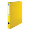 VICTORIA Gyűrűs könyv, 4 gyűrű, 35 mm, A4, PP/karton, , sárga