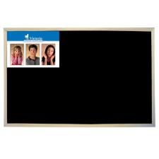 VICTORIA Krétás tábla, fekete felület, nem mágneses, 30x40 cm, fakeret, VICTORIA felírótábla